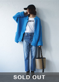 2way knit blouson blue