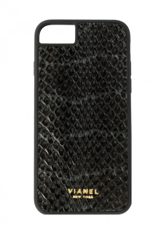 I PHONE 7/8 CASE SNAKE Black-with-Grey