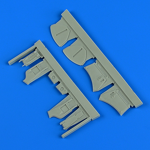 クイックブースト QB48-889 1/48 Hawker Hunter undercarriage covers (AIRFIX用)