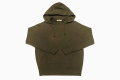 extra long cotton Brushed Parka コットンプルパーカー(olive green)
