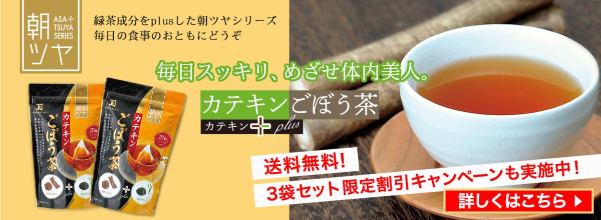 食物繊維豊富な「カテキンごぼう茶」送料無料キャンペーン